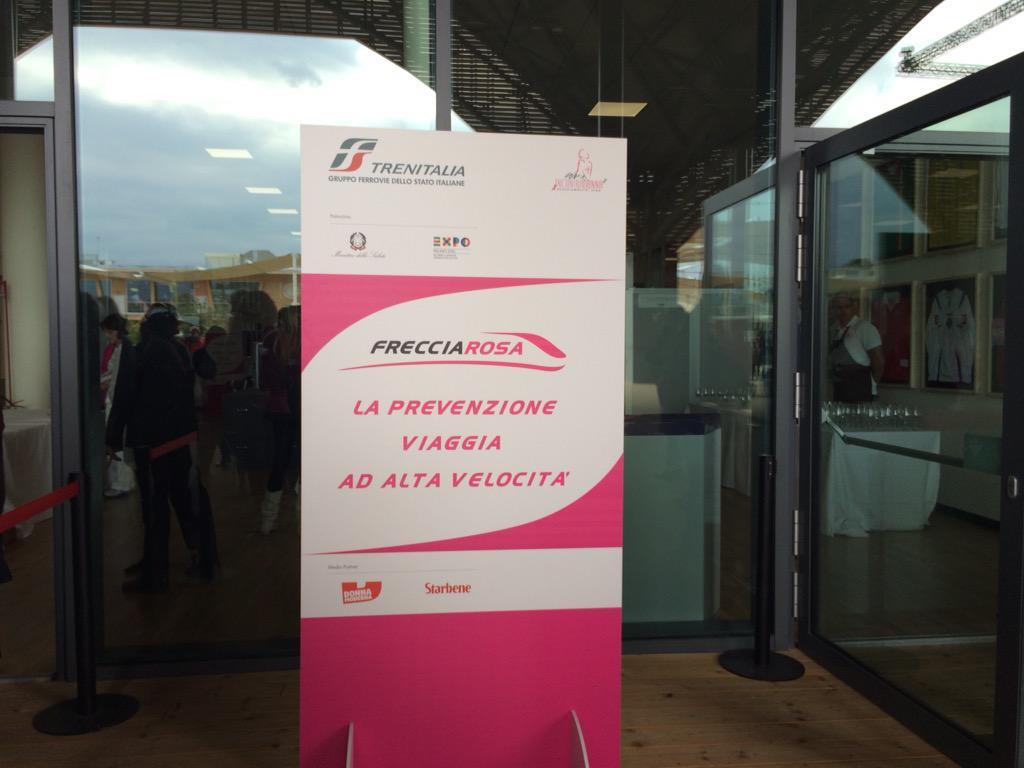 A breve conferenza stampa di presentazione #Frecciarosa 2015 #scelgolaprevenzione #Fs4Expo2015 #Milano http://t.co/017UPsUl1p