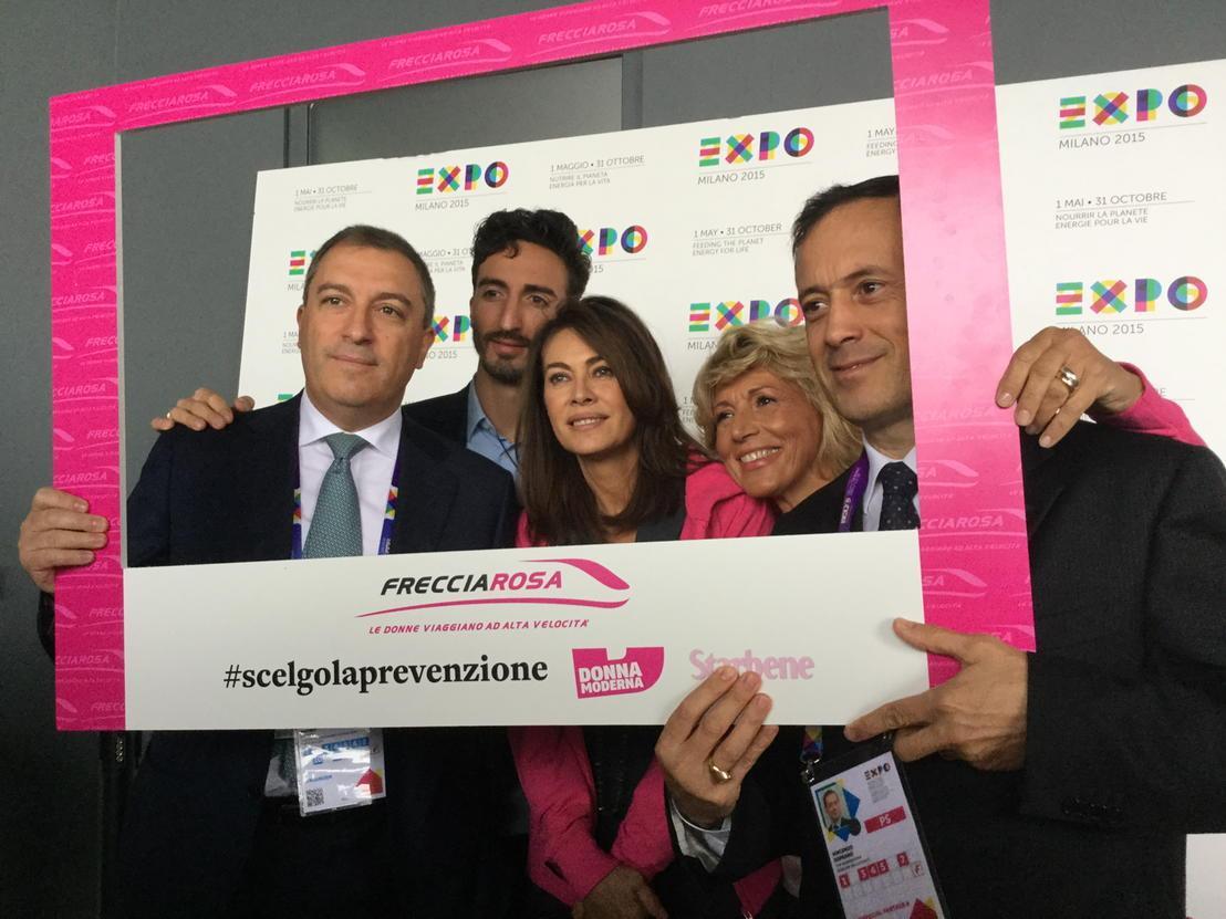 A @Expo2015Milano lancio campagna per la prevenzione delle malattie con @fsnews_it @LeFrecce madrina @ElenaSofiaOf http://t.co/Nzi5Ibdak3
