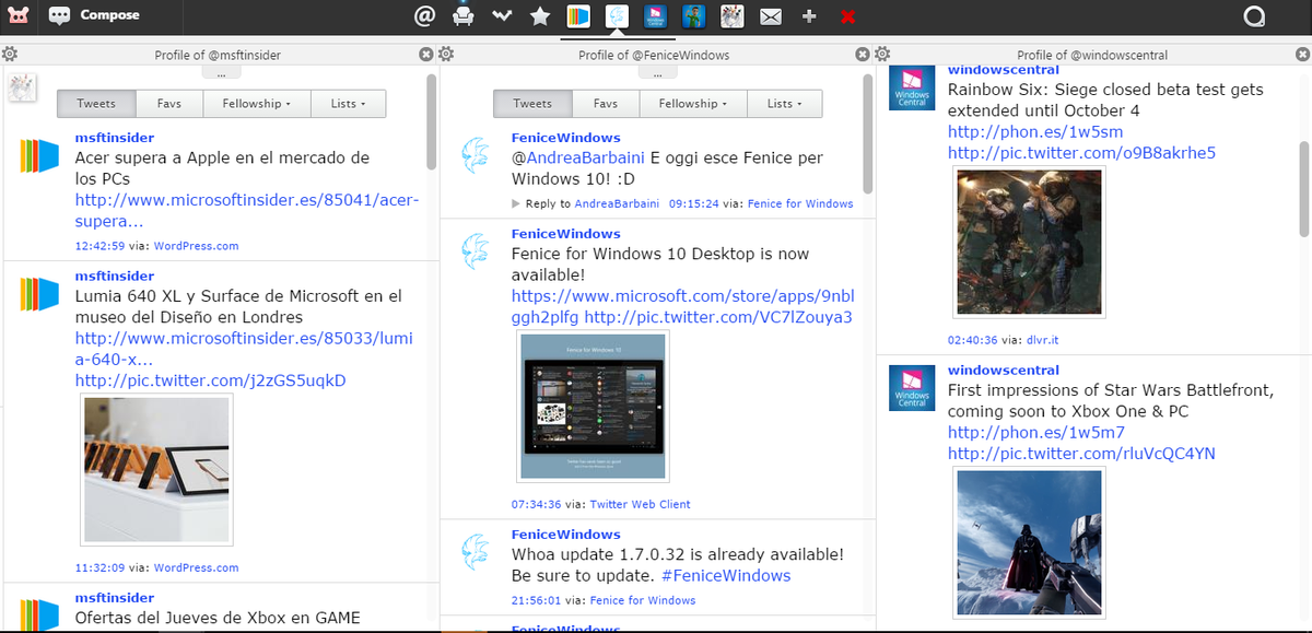 Fenice for Windows on Twitter: