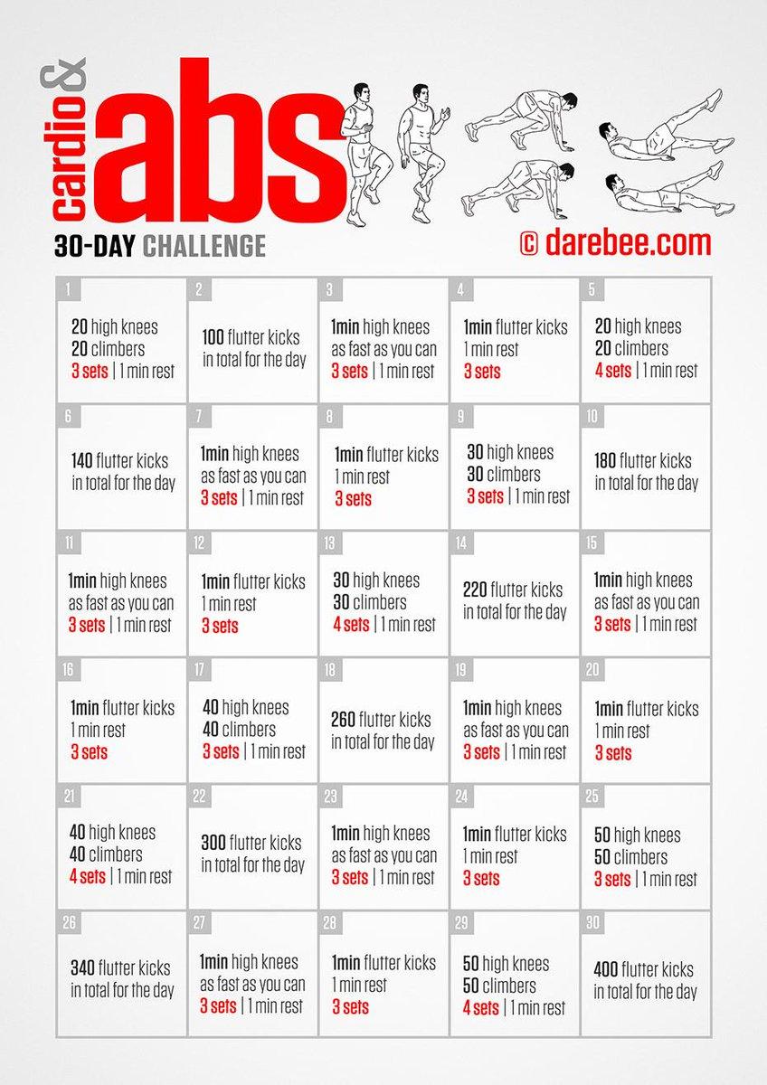 DAREBEE On Twitter Cardio Abs 30 Day Challenge Tco EyeHauInZg Darebee Fitness ZpUJqechze