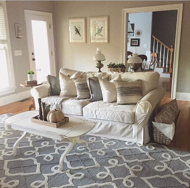 Rugs Usa On Twitter A Lovely Room Full Of Neutrals By Houseonbroad With Our Tuscan Trellis Vs73 Rug Rugsusa Http T Co Bifvnswylz