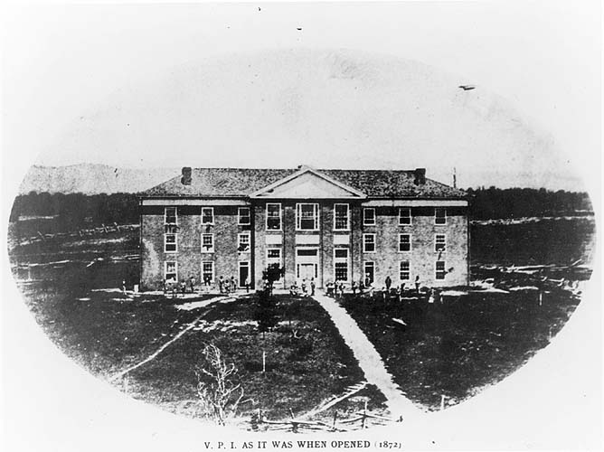 Virginia Tech opened its doors on Oct. 1, 1872, as Virginia Agricultural and Mechanical College. http://t.co/ZPR7Tbc9Nz