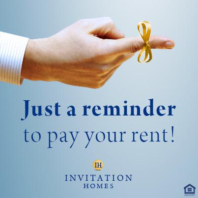 Invitation Homes On Twitter It S Sept 1st Time To Pay Rent Make
