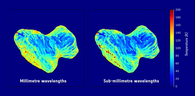 Termiske billeder af komet 67P's sydpol