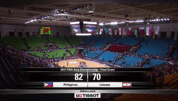 #FIBAAsia2015 PHILIPPINES DEF. LEBANON, 82-70, PHL Advances To Semis Against Japan #LabanPilipinas #GilasPilipinas http://t.co/VuoPggCySF