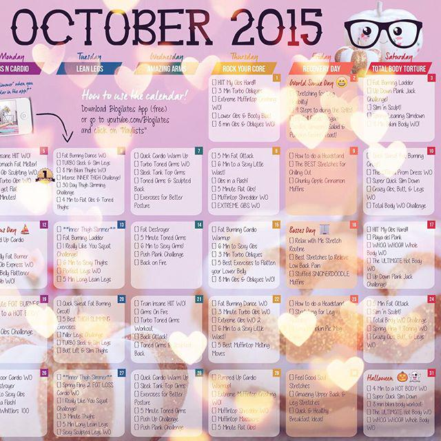 Cassey Ho On Twitter The New October Blogilates Workout