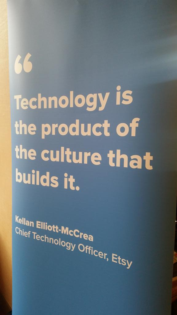 """""""Technology is the product of the culture that builds it."""" Kellan Elliot McCrea @Etsy #cfasummit http://t.co/UNeutkhcCD"""