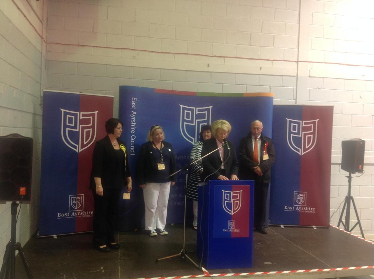 Elena Whitham SNP has been elected to serve as councillor for  Ward 6 Irvine Valley, elected at second stage. http://t.co/wNgzuFn4MI