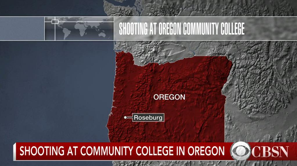 BREAKING: Shooting at Umpqua Community College in #OR, @CBSNews confirms; @CBSNLive stream: https://t.co/w5IUSq3A2M https://t.co/DIBjJ3tiFJ