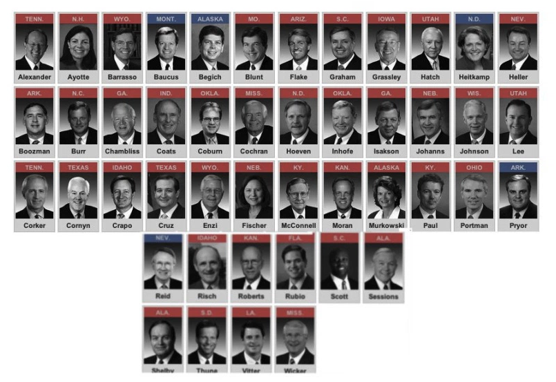 REMINDER: These are the 45 Senators who voted against universal background checks in April 2013 #UCCShooting https://t.co/vJ1qyd1arH
