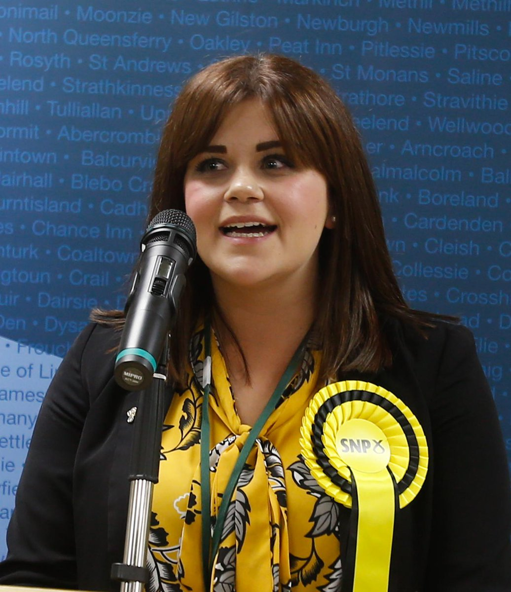 Julie Ford, SNP, newly elected Member for the Glenrothes West & Kinglassie council ward #glenwestbyelection http://t.co/Q3foJK2k6K