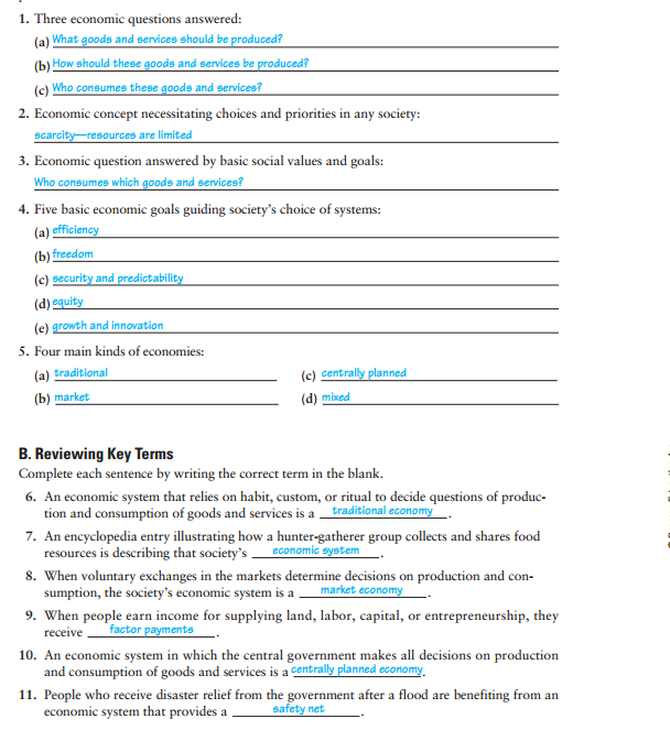 33 Chapter 2 Section 4 Modern Economies Worksheet Answers ...