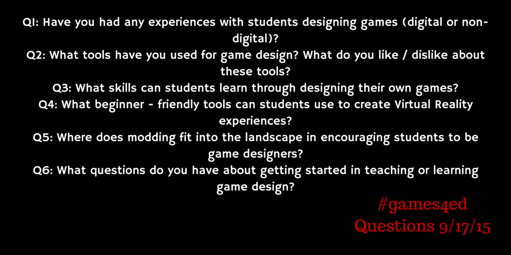Thumbnail for #Games4Ed: Students as Game Designers
