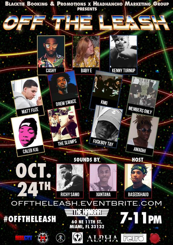 *RARE* MIAMI SHOW OCT 24TH ! #OFFTHELEASH #VintageMOB http://t.co/KlQtqX8A6G