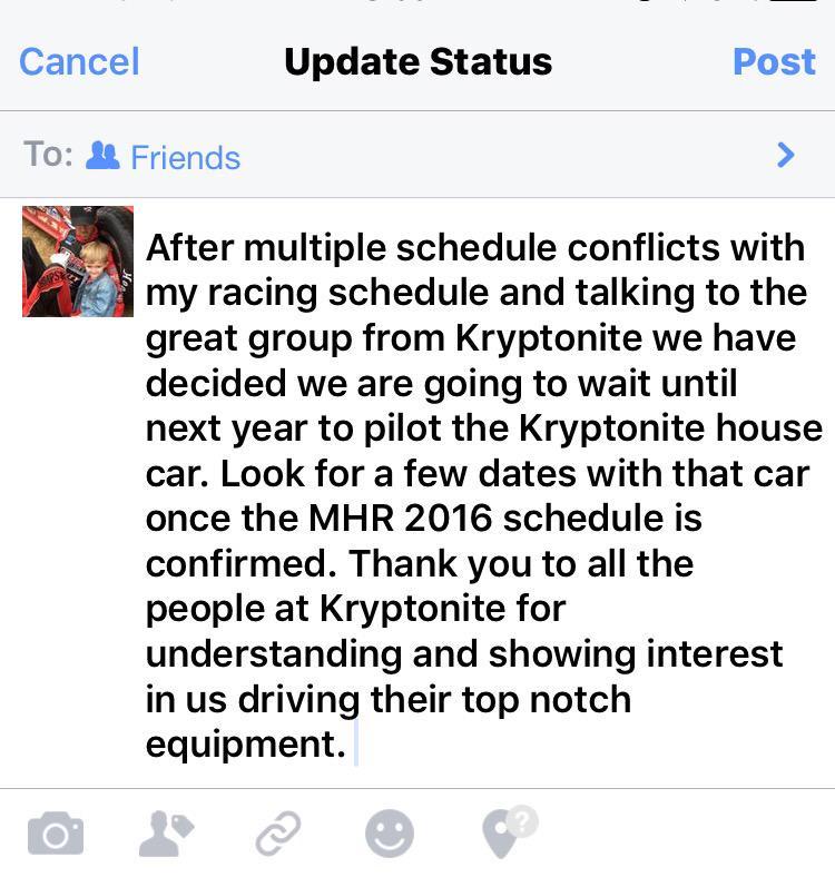 Kryptonite Race Car For Sale