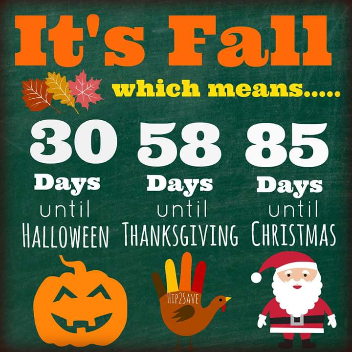 Halloween Thanksgiving Christmas Countdown.Earl Campbell Meats On Twitter Fall Is Here Now The