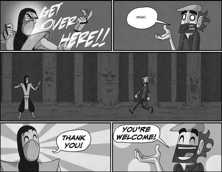 Just discovered one of my favorite webcomics ( @IamArg ) did an MK Strip... http://t.co/6nmV05XAYR
