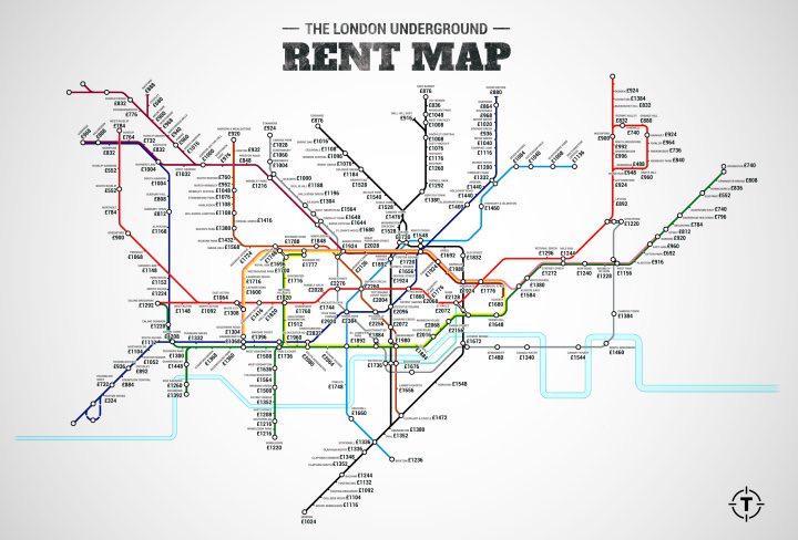 Mapa londýnskýho metra, kde stanice sou nahrazený cenou nájmů. http://t.co/C8lGFwcpRQ http://t.co/dj66fB8qkT