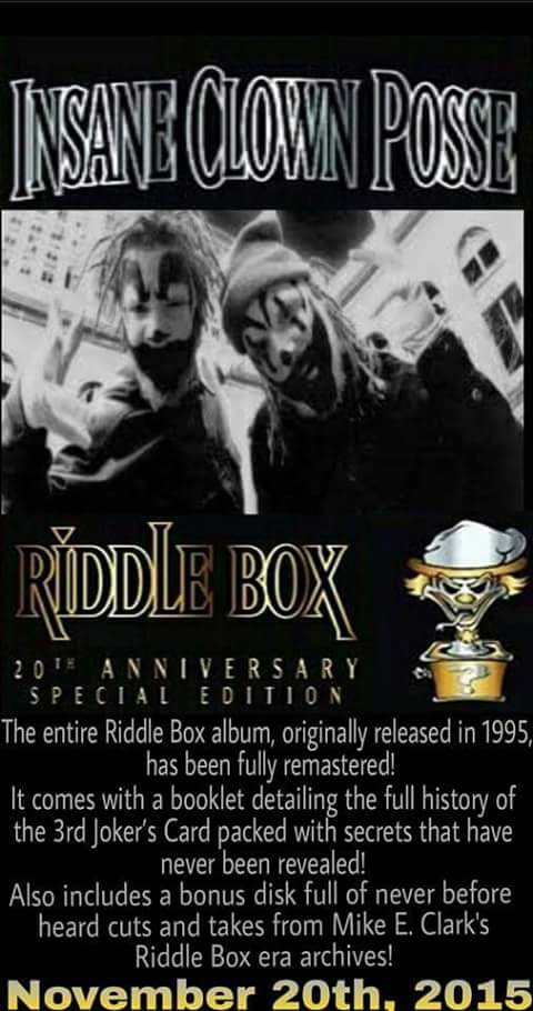riddle box 20th anniversary special edition