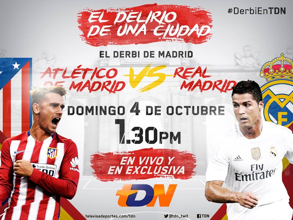 Atlético de Madrid vs Real Madrid por TDN