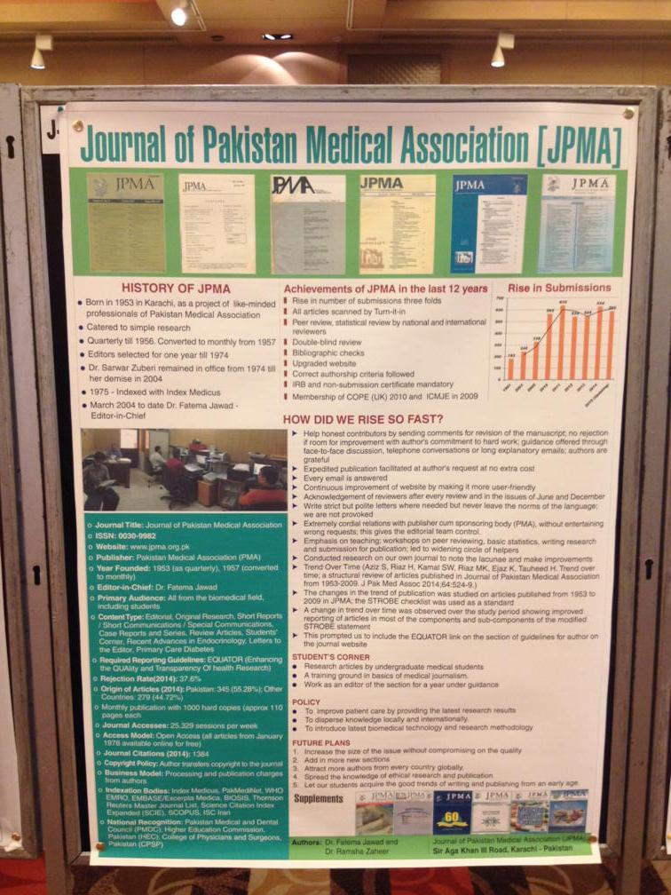Poster about the Journal of the Pakistan Medical Association #wame @farooqrathore http://t.co/mH5F3TYCM3