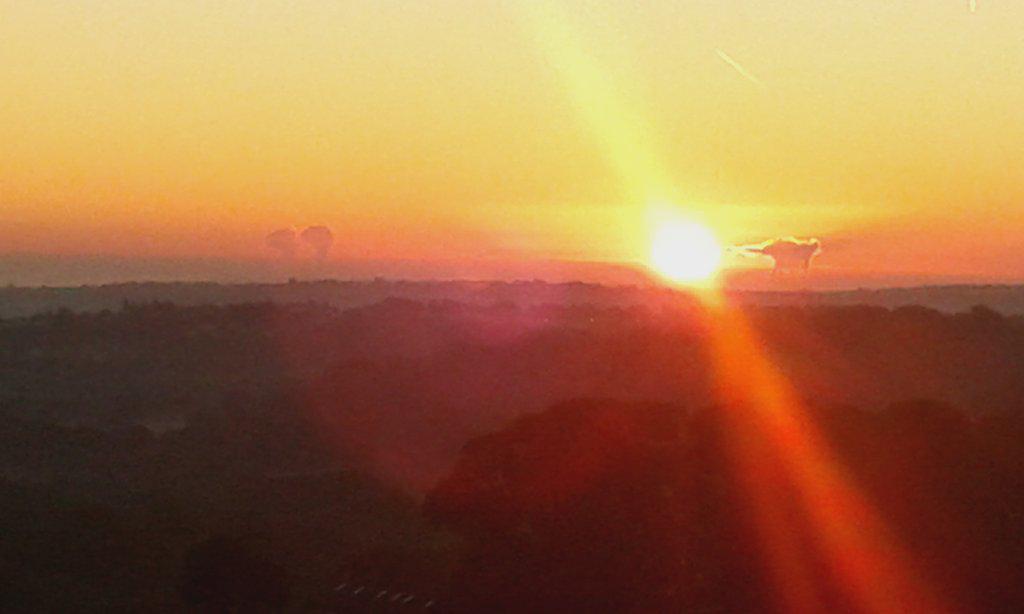 Sunrise over Sheffield