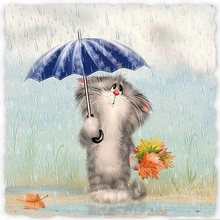 Открытка дождливая погода