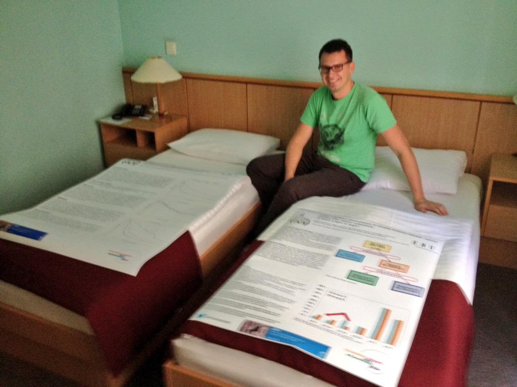 Szczecin team getting ready for the #CEM15 . Fortunately the posters arrived in good shape #CEM15 http://t.co/MxhBaHaEeH