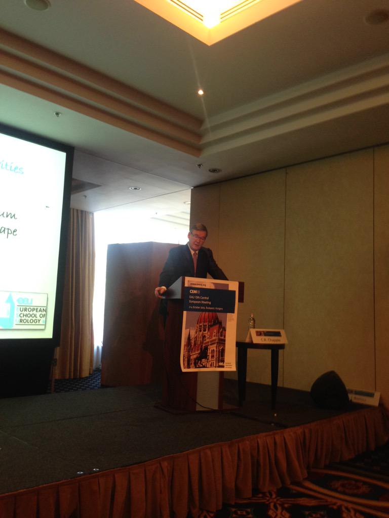 Prof Chapple talk about EAU vision for future at #CEM15 http://t.co/c286GyjUsN