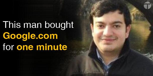 Sanmay Ved ha comprato Google.com per un minuto.