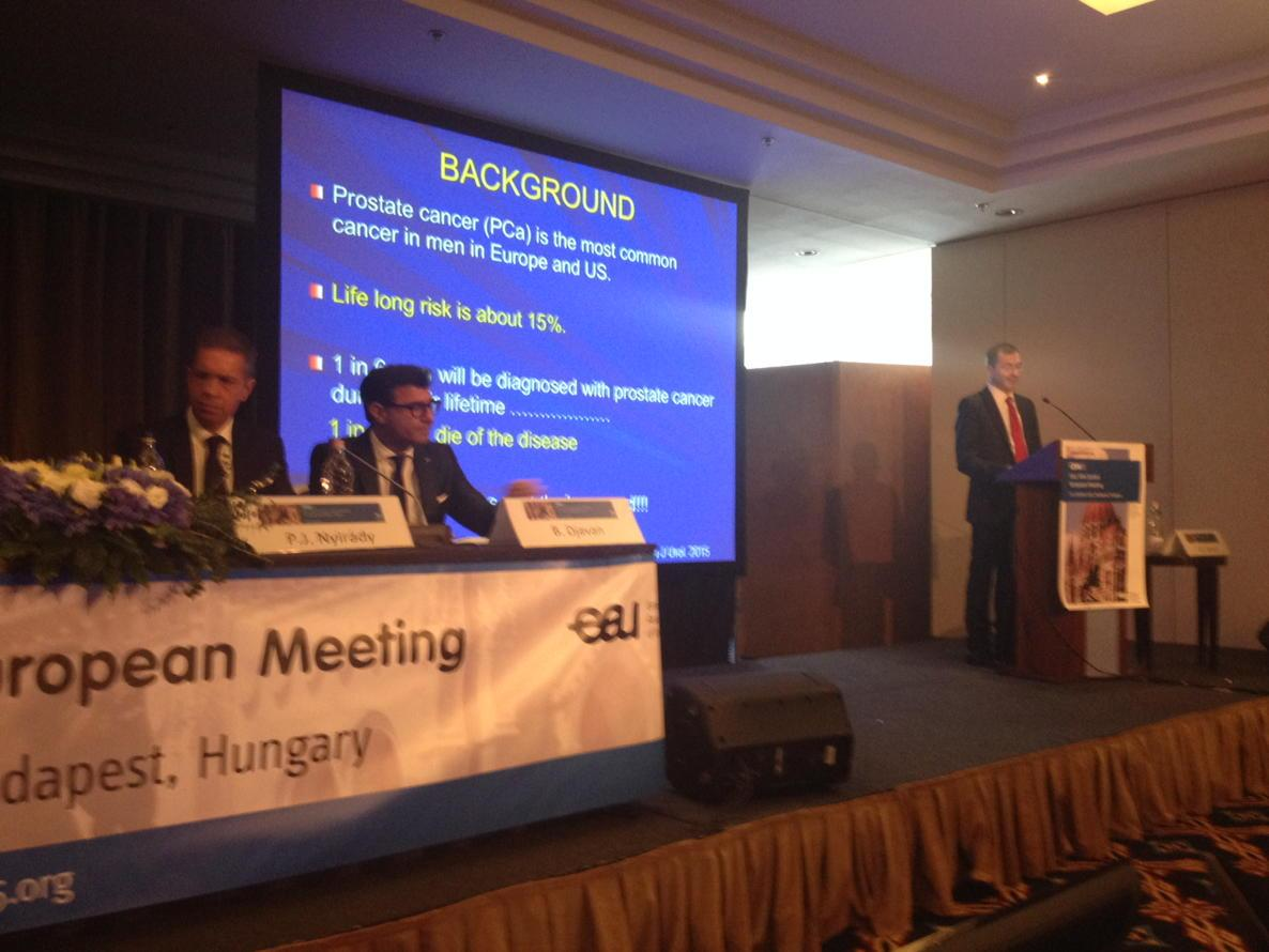 Prostate cancer session in progress at the #CEM15. Imaging in PC as usual one of main topics http://t.co/FL7hZJnlJZ