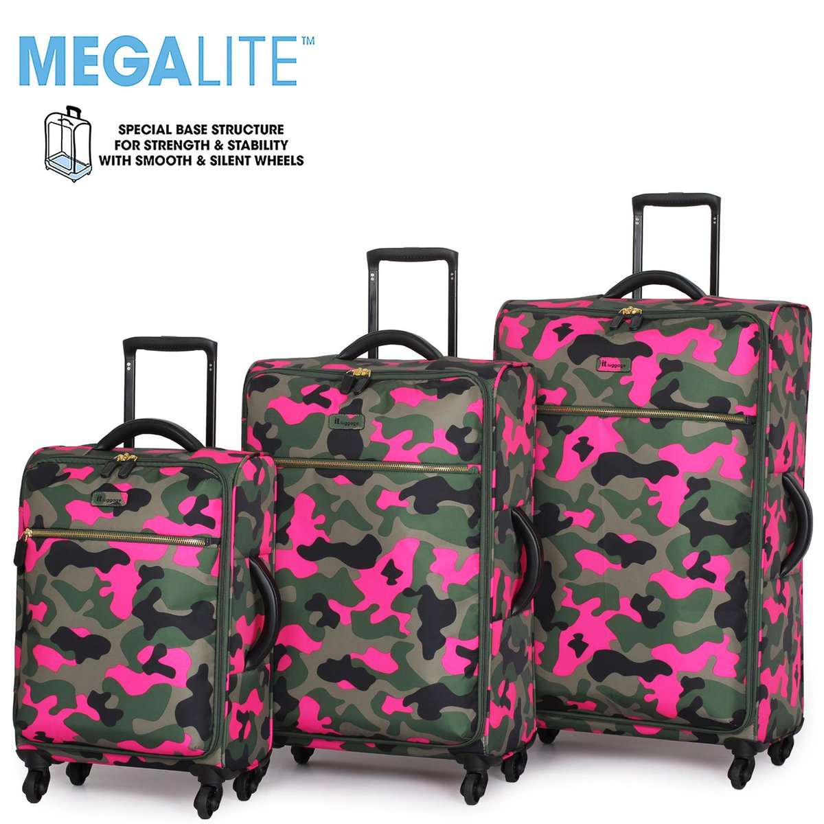 Pink Camo Suitcase | Luggage And Suitcases