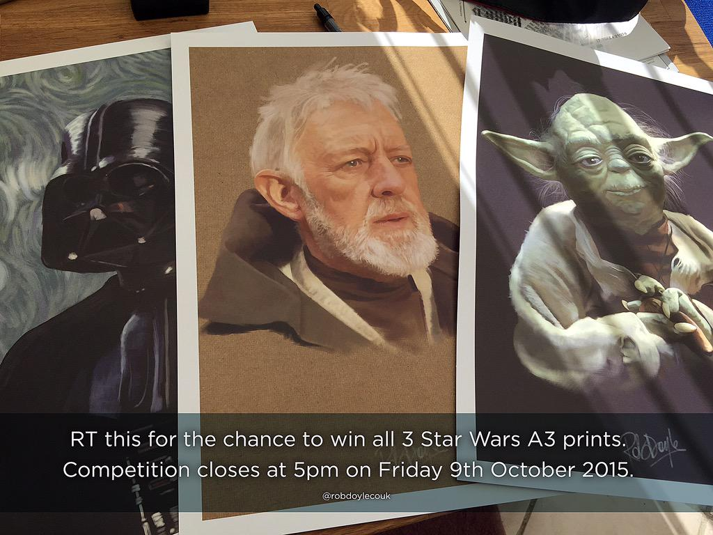 Competition Time! RT this for the chance to win all 3 #StarWars A3 posters (also available: https://t.co/vb7NWSVBmp) http://t.co/k11WFhiInV