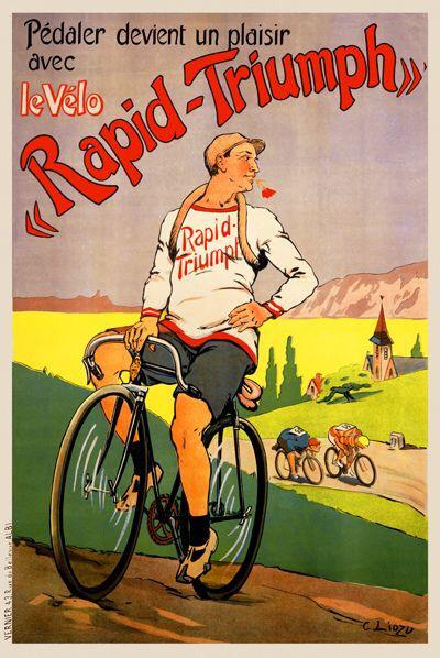 Raleigh All Steel Bicycle Bike Airplane Plane USA Vintage Poster Repro FREE S//H