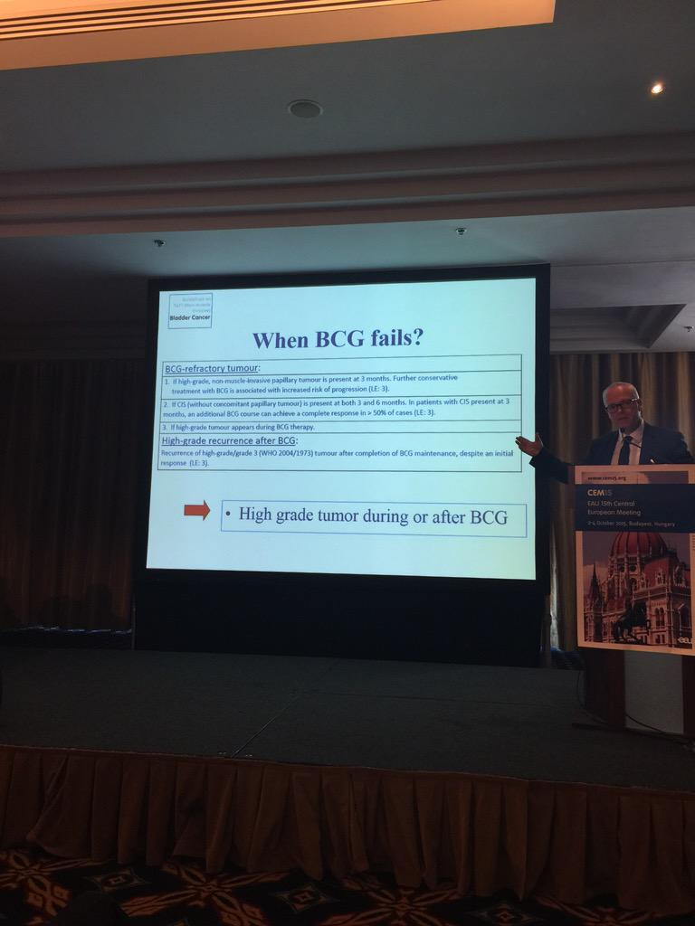 #eauguidelines definition of BCG failire in NMI #bladdercancer @MarekBabjuk at #CEM15 http://t.co/KKjDOXlCTr