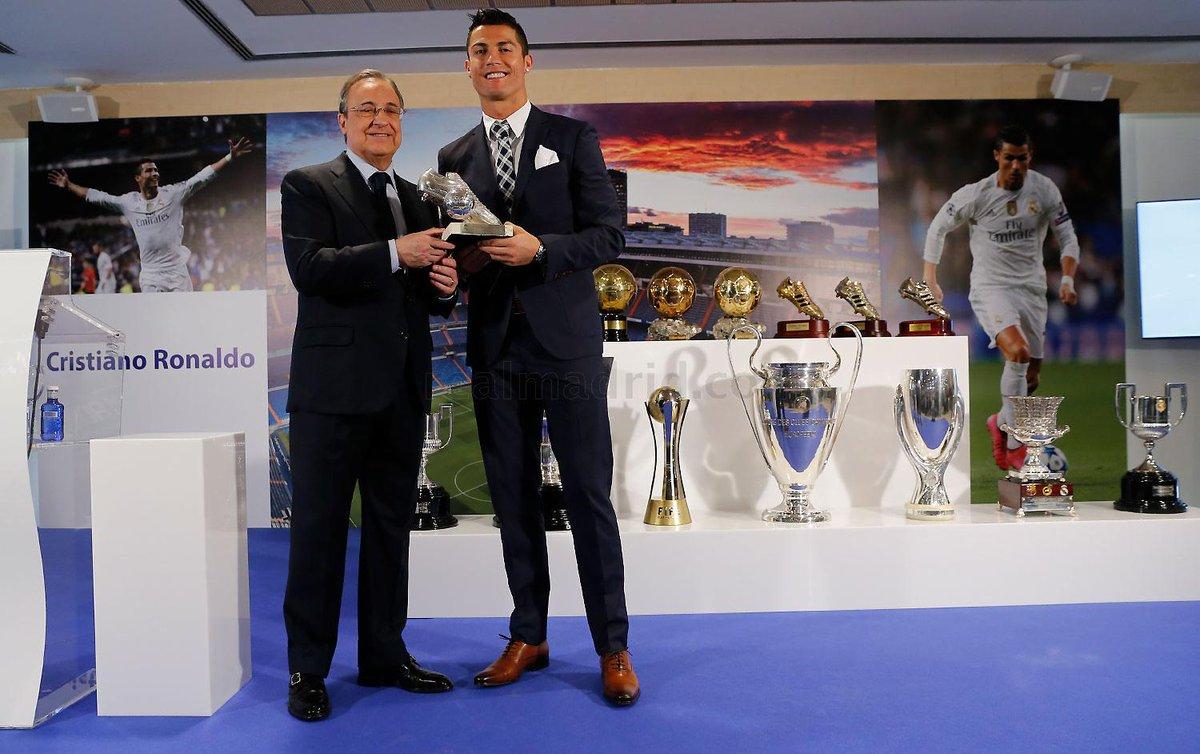 «Реал» провел церемонию чествования Роналду