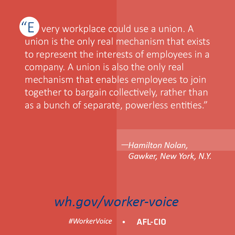 """Every workplace could use a union"" - @hamiltonnolan #StartTheConvo #1u http://t.co/8HKLy9AenT"