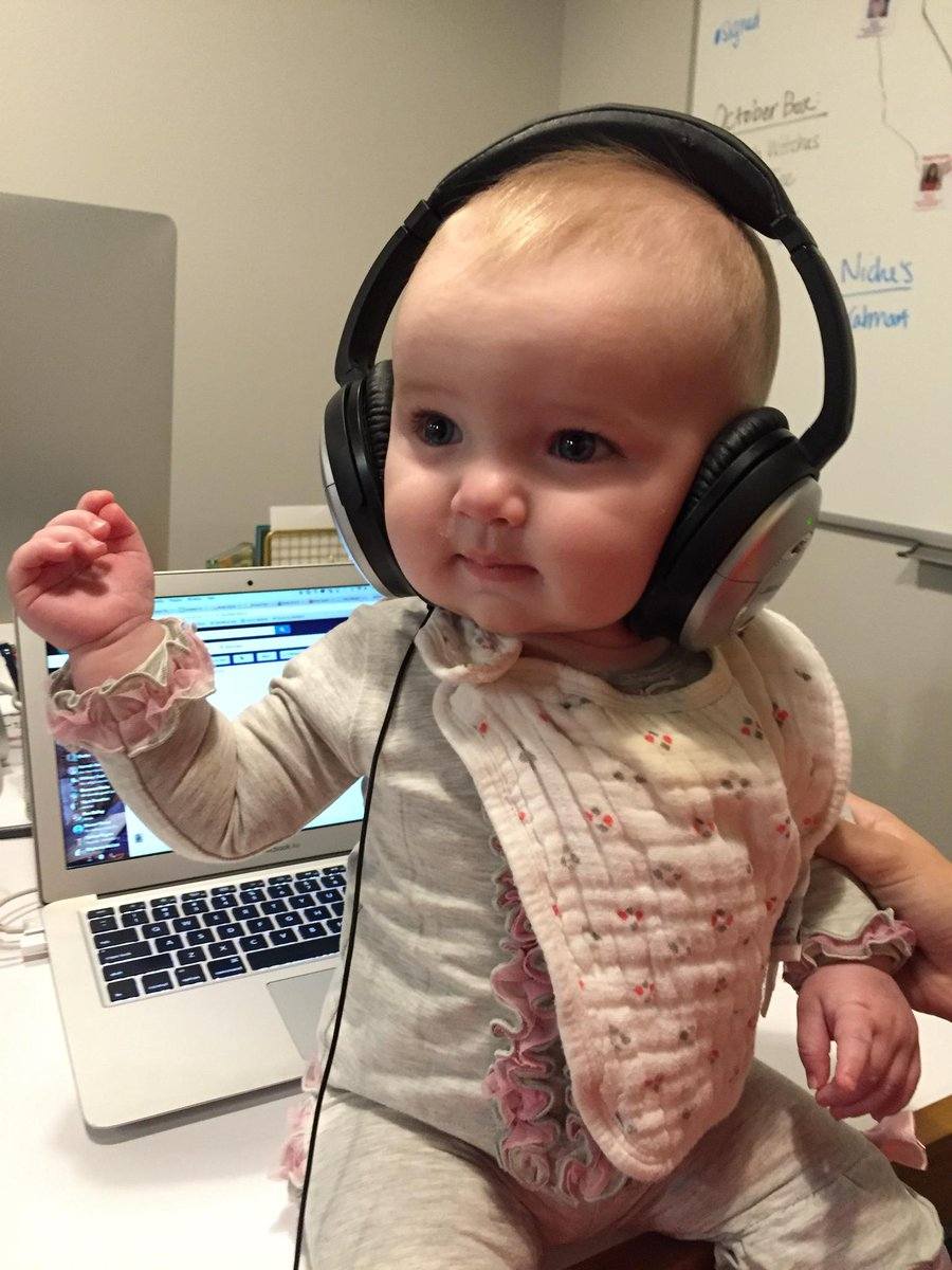 Free headphones for all because this is too cute. All the @acorninfluence babies love @Bose #DJPiper #NoiseCancelled
