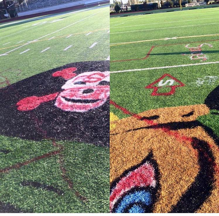 High School Football rivalry gets ugly. Reedley High's field was vandalized overnight. #LiveOnFox26 http://t.co/vYv7B6eB4s