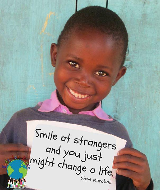 """Smile at strangers and you just might change a life."" -Steve Maraboli #SmileStarter #WorldSmileDay http://t.co/etTYQ09FBq"