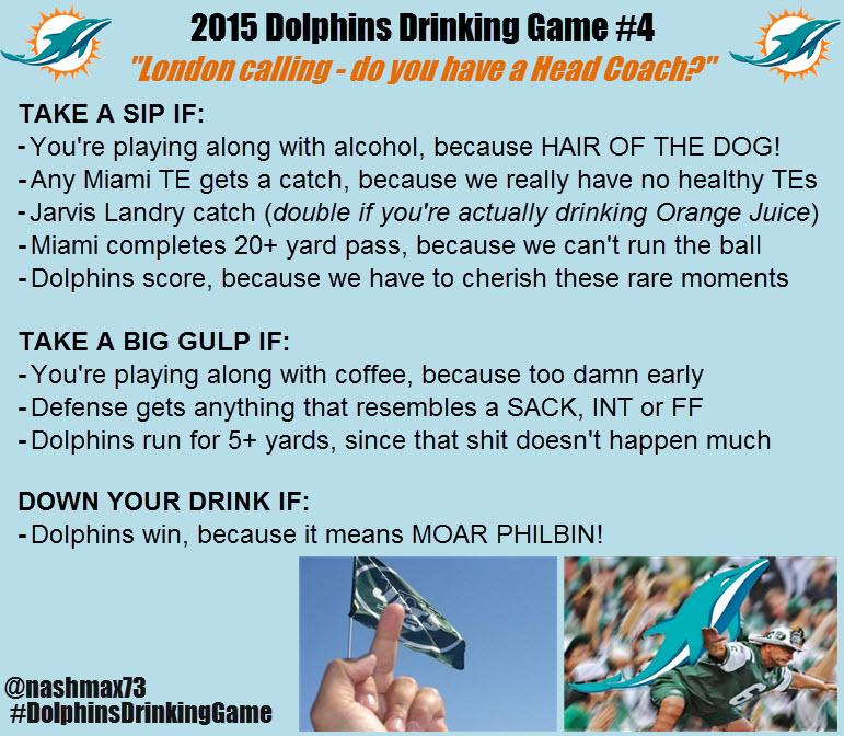 For those of you too lazy to click the webpage in previous tweet here's #DolphinsDrinkingGame courtesy of @nashmax73 http://t.co/WlH51ZMqoz