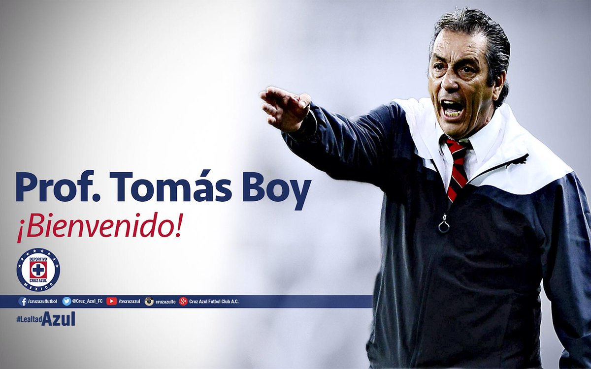 #BoyAlAZUL ¡Bienvenido Prof. Tomás Boy! #LealtadAzul http://t.co/OqH0rxXVk5