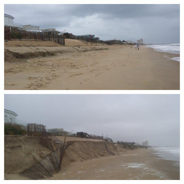 Before & after on croatan beach, va. severe #erosion ...