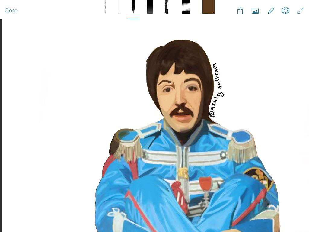 Ashley Oultram On Twitter Fan Art Of Sgt Peppers Lonely Hearts Club Band Drawing Paul McCartney Drawn By Me PaulMcCartney Tco ClWxnSK9Ey