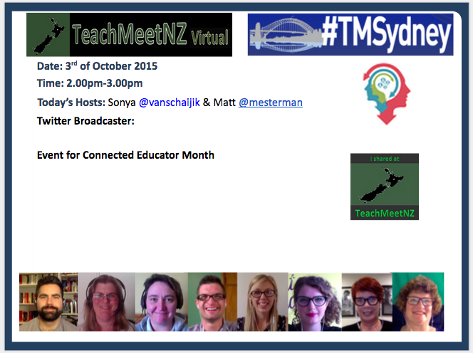 Just about to kick off #teachmeetNZ #TMsydney http://t.co/JbdriRmtMq