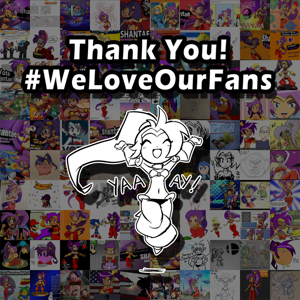 Thank you for voting! Your support means the world to us! #WeLoveOurFans #shantae4smash http://t.co/WfhZJW0jzF