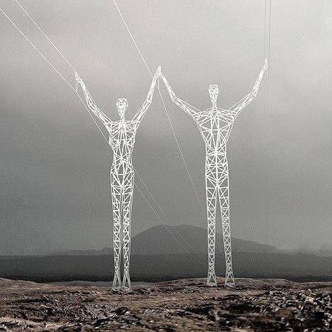 アイスランドの送電線、凄く良い。とてもとても凄く良い。 pic.twitter.com/ravwE3ZMU7