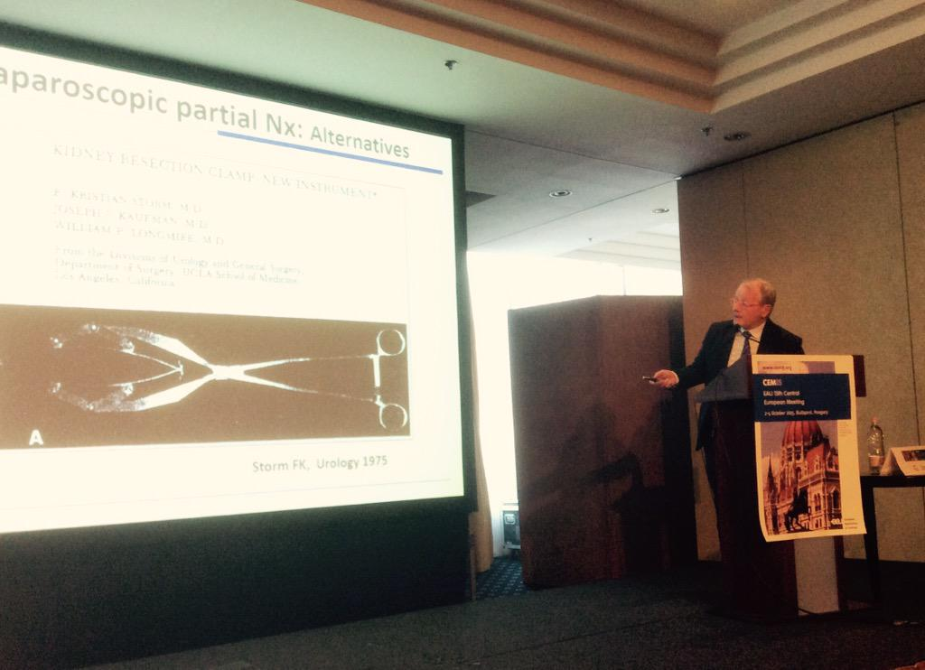 "Gunter Janetschek warns against the Satinsky clamp in partial nephrectomy. ""It does the most damage,"" he says #cem15 http://t.co/BIwRyIZYQk"