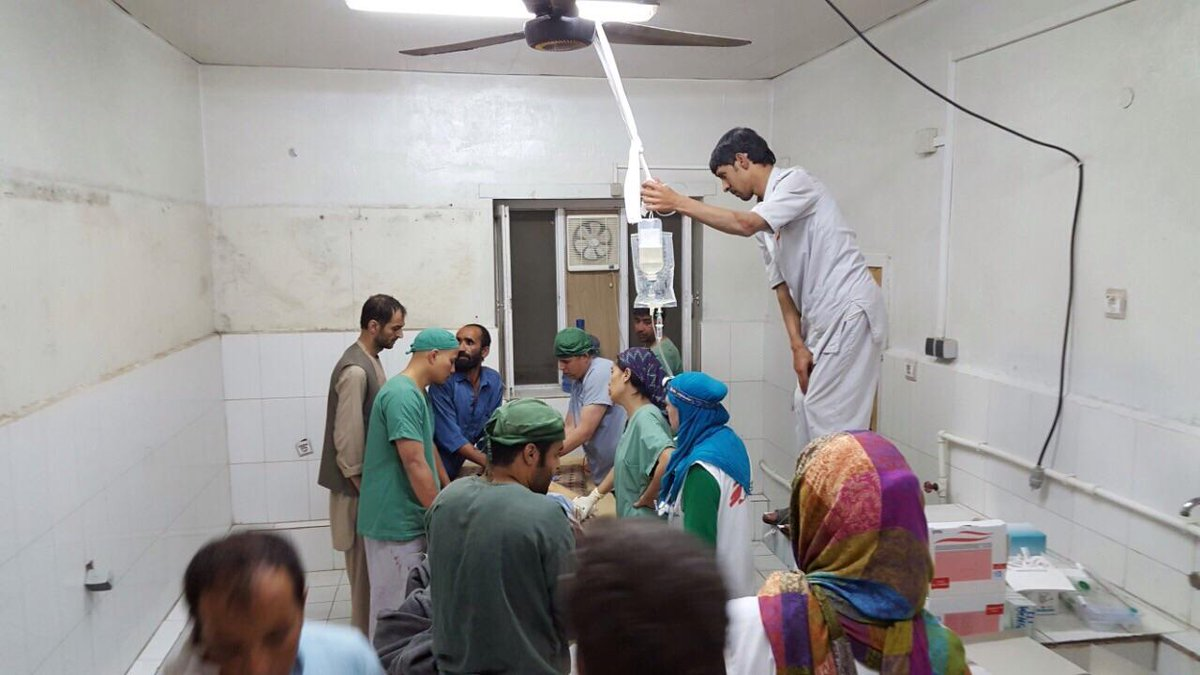Photos of damage done by bombing of #MSF #Kunduz hospital + staff treating patients in parts still standing ©MSF http://t.co/hKOBIyLttI