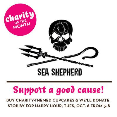 Support our Oct charity: @SeaShepherdBDC Eat #cupcakes & we'll donate! Benefit happy hour Tues 6th @ 5p! #vegan http://t.co/xYPxPMnt4F